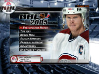 "NHL 2005 ""Latin Russian"" main menu"